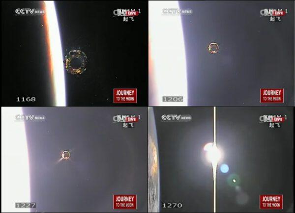 Povedené záběry z oddělení Chang'e 3 od posledního stupně rakety CZ-3B
