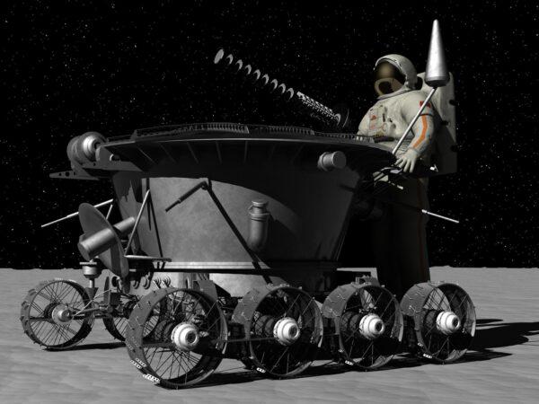 Lunochod byl původně vyvíjený pro sovětský pilotovaný program