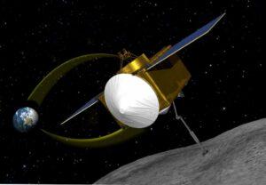 Velmi zjednodušená ukázka cesty sondy OSIRIS-REx