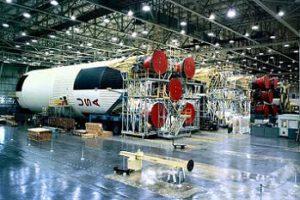 Ve výrobním závodě Michoud vznikaly i první stupeň raket Saturn V.