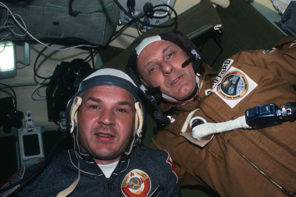 S Tomem Staffordem během mise Sojuz- Apollo