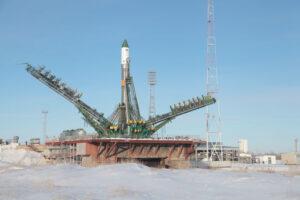 Raketa Sojuz s Progressem M22M před startem