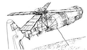 Raketoplán se měl připojovat ke Skylabu skrze přechodový tunel