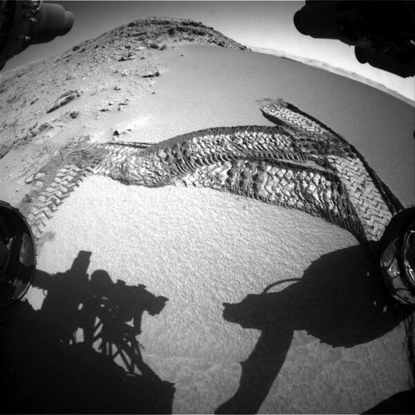Nejdříve bylo třeba vyzkoušet, jak moc písek unese vozítko
