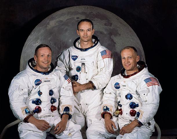 Trojice, která vstoupí do učebnic: Armstrong, Collins, Aldrin