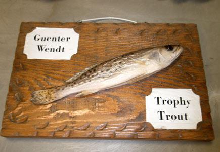 Trofejní pstruh Guenthera Wendta