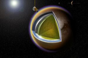 Virtuální řez měsícem Titan