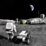 Vize budoucí lunární základny zdroj:phys.org
