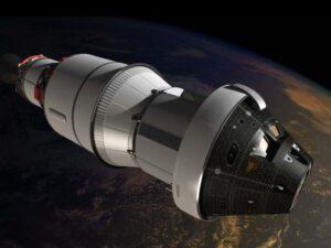 Loď Orion v rámci mise EFT-1