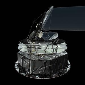 Povšimněte si dvou protilehlých eliptických zrcadel. Ta snímají obraz, který je od podélné osy teleskopu odkloněn o 90°. Díky tomu mohou využít vlastní rotaci družice ke snímkování celé oblohy, přičemž solární panely zůstávají neustále namířeny ke Slunci.