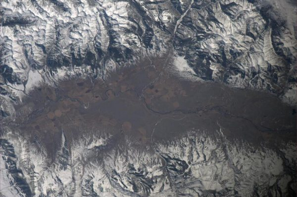 Horský terén ve státě Colorado