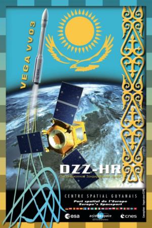 Grafika ke startu družice