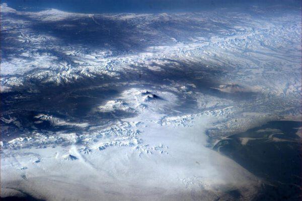 Zasněžené hory na Kamčatce