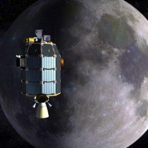 LADEE u Měsíce zdroj:nasa.gov