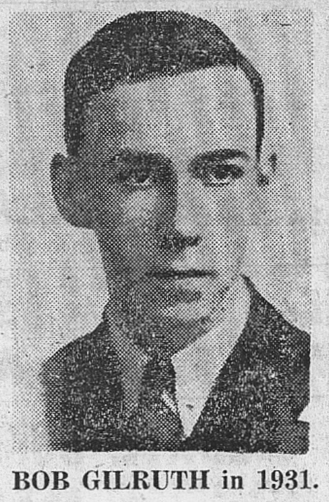 Mladý Robert Gilruth v roce 1931