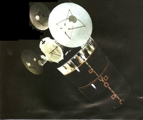 Odtajněný snímek staršího satelitu SDS.