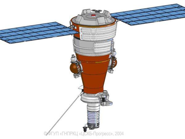 Schematický nákres satelitu z rodiny Kobalt-M