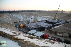 Prosinec 2013 – Zimní práce na startovací rampě pro Sojuzy