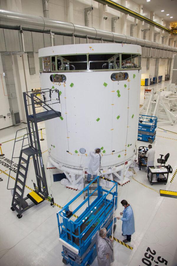 Maketa servisního modulu pro Orion