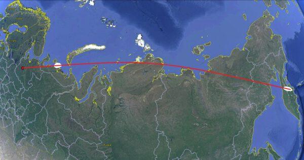 Plánovaná trajektorie letu