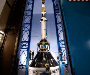 Záchranná věžička pro Orion během zkoušek