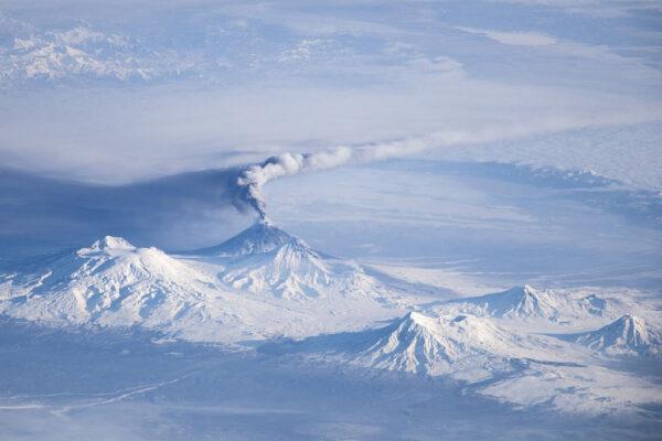 Ključevskaja - s 4750 metry nejvyšší hora Kamčatky