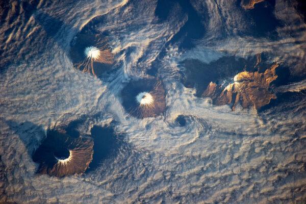 Čtveřice ostrovů tvořených sopkami u aljašských Aleutských ostrovů