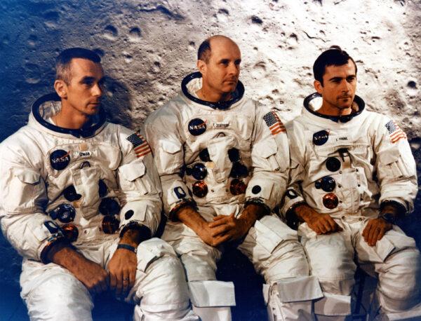 Eugene Cernan, Thomas Stafford a John Young, jako posádka Apolla 10