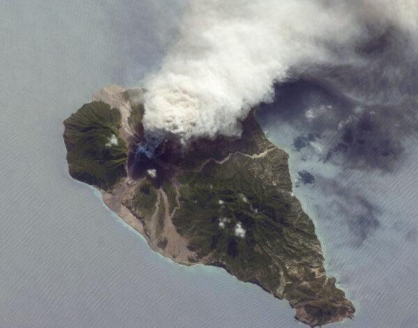 Soufrière Hills na ostrově Montserrat