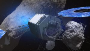 Zachycení části asteroidu