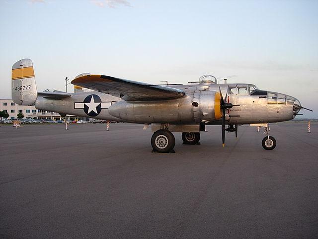 North American B-25 Mitchell- první Slaytonův bojový stroj