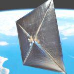 Cubesat se solární plachtou zdroj:gizmag.com