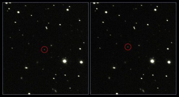 Snímky Gaie pořízené 23. ledna 2014 dalekohledem VST Evropské jižní observatoře (ESO). Kredit: ESO.