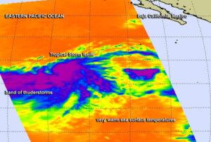 Rodící se bouře Iselle očima přístroje AIRS na satelitu Aqua