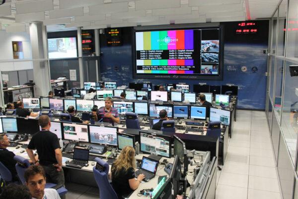 Středisko odkud se řídí start ATV-5