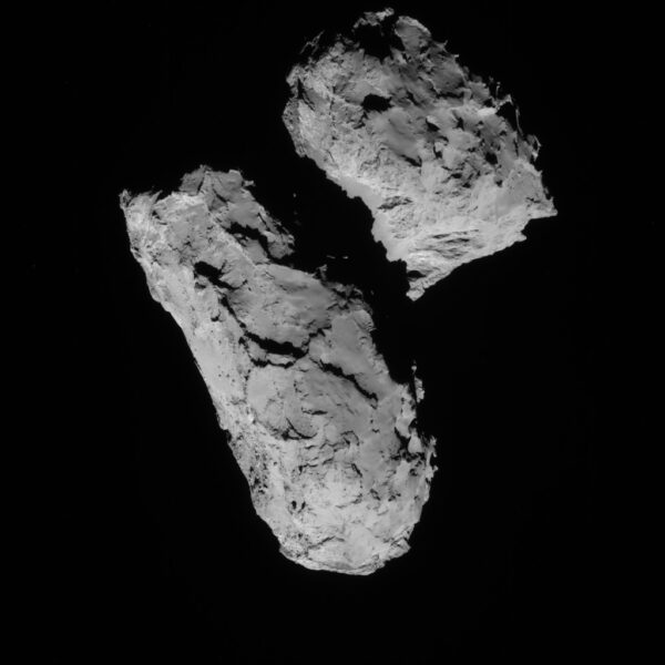 21srpna 2014, 69 km od komety Kredit: ESA/Rosetta/NAVCAM