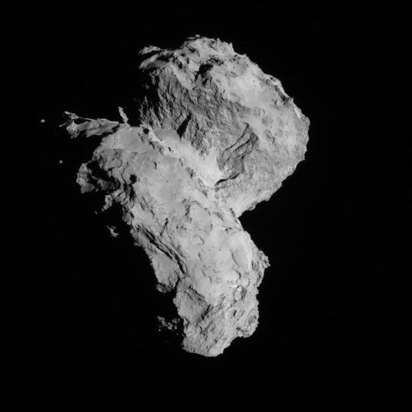22. srpna 2014, 64 km od komety Kredit: ESA/Rosetta/NAVCAM