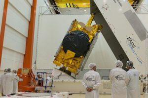 Družice Measat 3b během pozemních příprav
