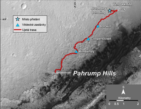 Cesta Curiosity po Marsu