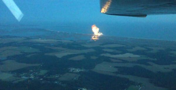 Záběr pořízený z výšky 1 kilometr z letadla Cessna 177.