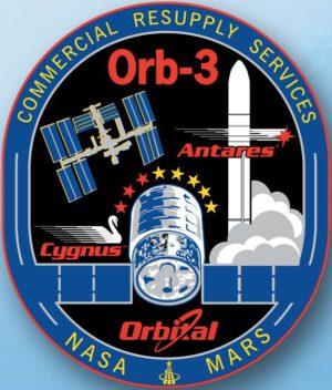 Logo nevydařené mise CRS Orb-3.