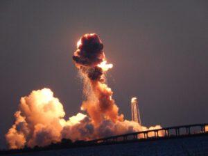 Pád rakety Antares.