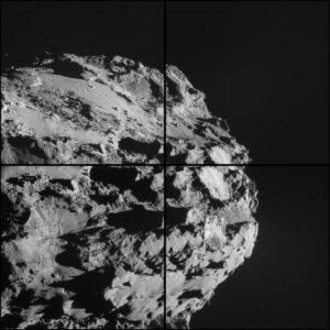 Složený snímek z kamer NAVCAM pořízený 8. října ze vzdálenosti 16,9 km.