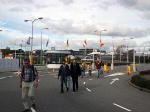 Vchod do areálu ESTECu