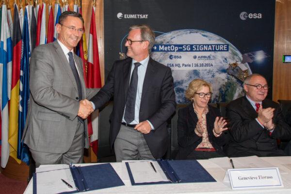 Podpis dohody o výrobě družic MetOp druhé generace