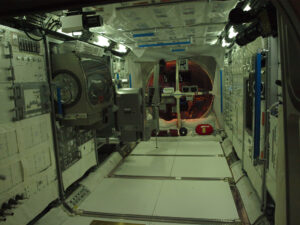 Interiér modelu modulu Columbus