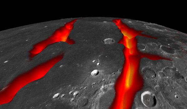 umělecká představa příkopové propadliny (riftu) zdroj:  NASA/Colorado School of Mines/MIT/JPL/GSFC
