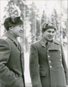 Leonov a Bljajev po návratu z mise