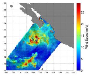 Měření tropické bouře Simon