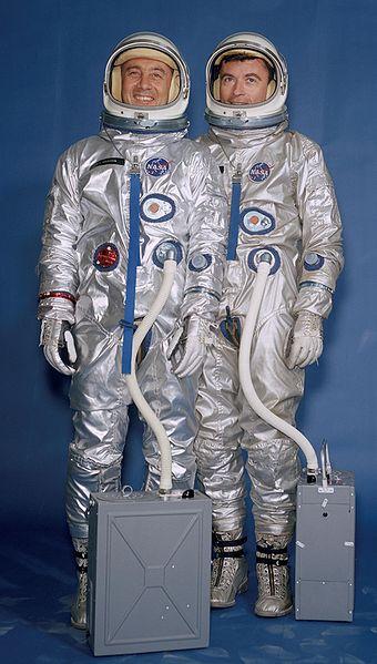 Posádka mise GT-3: Grissom (vlevo), Young